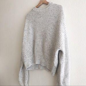 H & M cotton mockneck speckled sweater